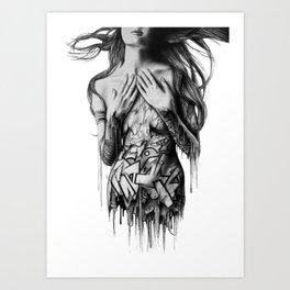 GIRL-GRAFF-ART Art Print