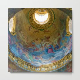 Frescoes of La Maddalena Cathedral, Rome, Italy Metal Print