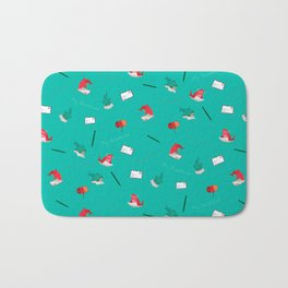 Teal Whale Shark and Shark Bath Mat
