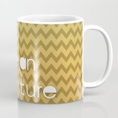 Today Can Be An Adventure Poster Teal Yellow Chevron Mug