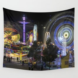 Fairground Attraction panorama Wall Tapestry