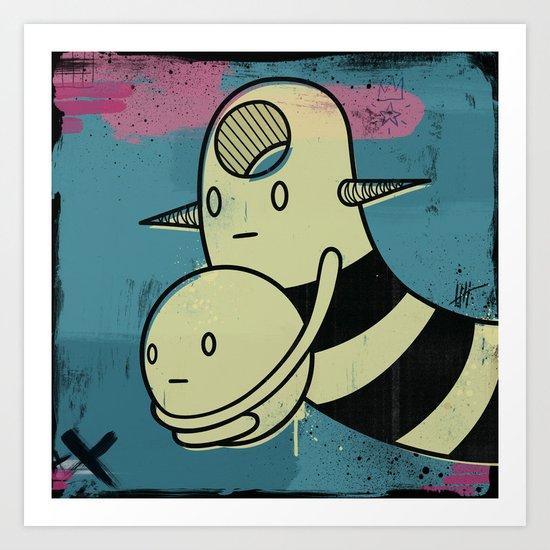 Ballhold Headhole Art Print