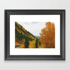 Firey Fall Framed Art Print