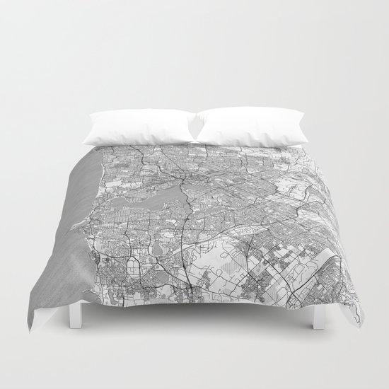Perth Map Line by hubertroguski