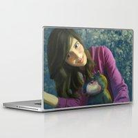 ale giorgini Laptop & iPad Skins featuring Ale+bichin by CataBeja Umaña Azul