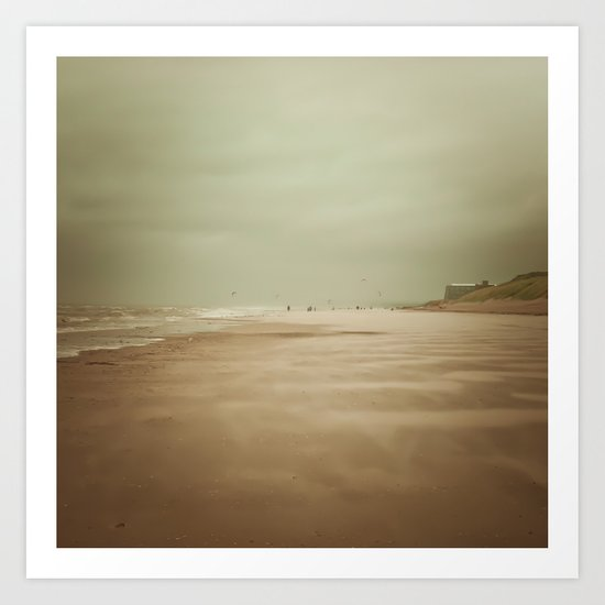 Wind Beach Art Print