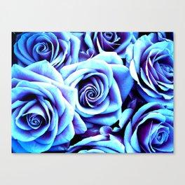 Bright Blue Flowers Canvas Print