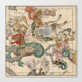 Constellations Andromeda, Pegasus, Cetus and Aries Canvas Print