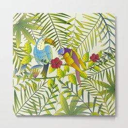Tropical Paradise Pattern 1 Metal Print