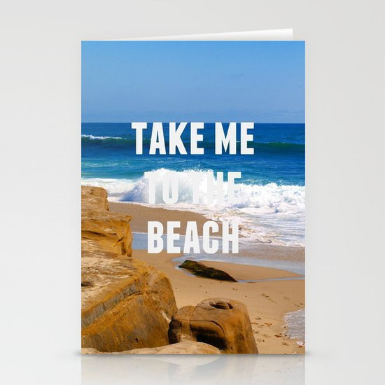 Take Me To The Beach Stationery Cards