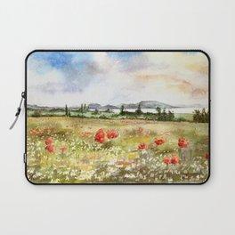 Poppies at the Lake Balaton Laptop Sleeve