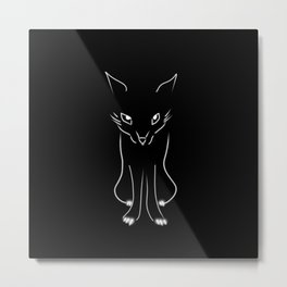 Minimalist Fox Illustration Metal Print