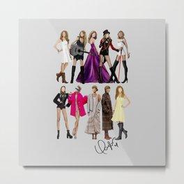 Taylor S Eras Autographed - Fan Art Metal Print