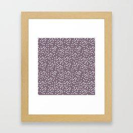 Purple Dot Framed Art Print