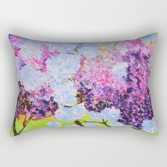 lilac painted Rectangular Pillow