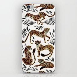 Cheetah Collection – Mocha & Black Palette iPhone Skin