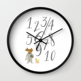Numbers (Little Fox) Wall Clock