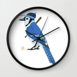 Baseball Blue Jay Wall Clock