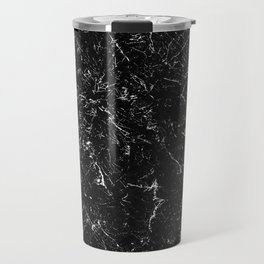 Black Marble Travel Mug