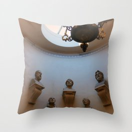 Scottish national gallery stairs and busts Edinburgh Scotland Throw Pillow