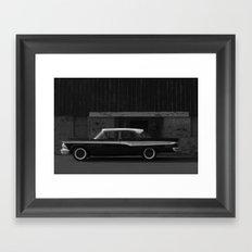 Edsel at the door Framed Art Print