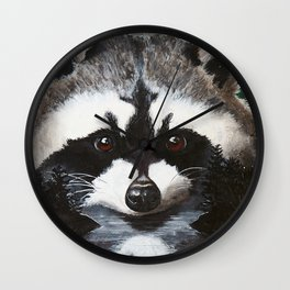 Raccoon - Charley - by LiliFlore Wall Clock