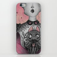 loll3 iPhone & iPod Skins featuring Black Cat by lOll3