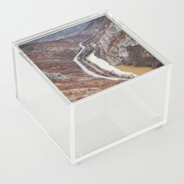 Beautiful picture of the canyon in Serbia. Dramatic sky and mountains Acrylic Box