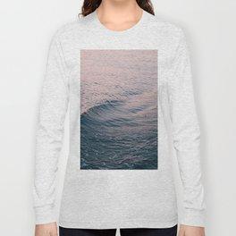 Pink Sunset Waves Long Sleeve T-shirt