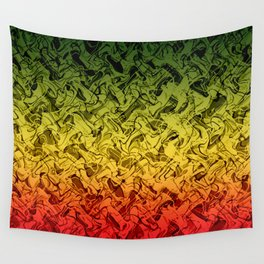 Rasta Fire Wall Tapestry