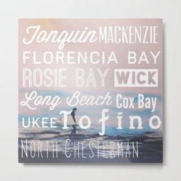 Tofino Beaches Metal Print