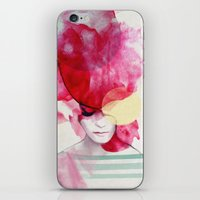 rug iPhone & iPod Skins featuring Bright Pink - Part 2  by Jenny Liz Rome
