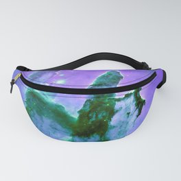 Pillars of Creation Lavender Purple Teal Green Fanny Pack