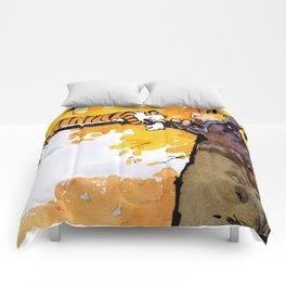 calvin and hobbes sleep Comforters