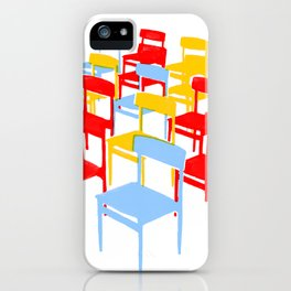 25 Chairs iPhone Case