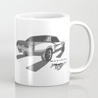 mustang Mugs featuring Mustang by CurvedandTwisted