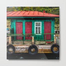 Dock House Metal Print