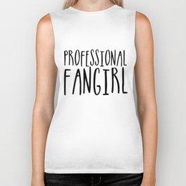 Professional fangirl Biker Tank