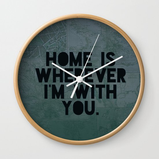 With You II Wall Clock