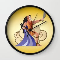 hercules Wall Clocks featuring Leo - Hercules by AmadeuxArt