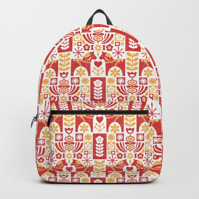 Swedish Folk Art_Mid-Century Modern Backpack