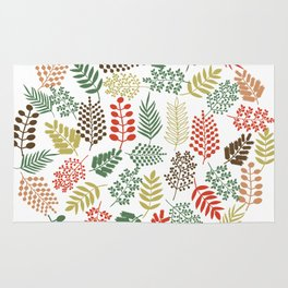 Colorful branches 1 Rug