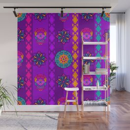Fancy Colorful Mexico Inspired Pattern Wall Mural