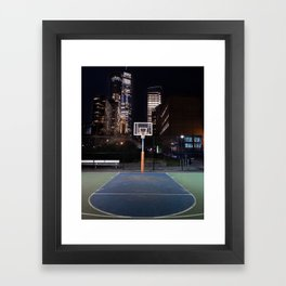 Basketball court New York City Framed Art Print