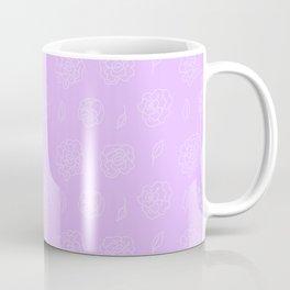 Purple Floral Pattern Coffee Mug