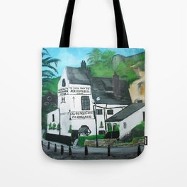 The Oldest Inn In England Acrylic Fine Art Tote Bag
