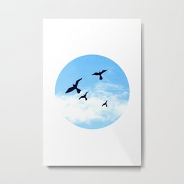 Birds Kite Metal Print