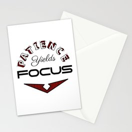 Patience Yields Focus Stationery Cards