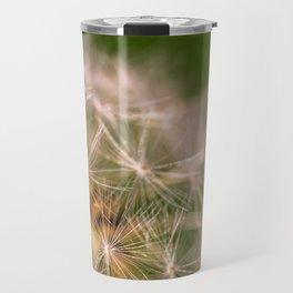 Snowglobe - Macro Photograph of Dandelion Travel Mug