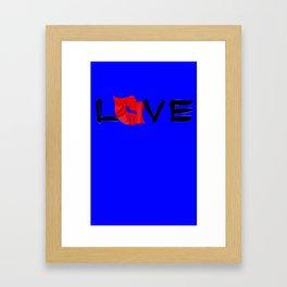 Love With a Kiss Framed Art Print